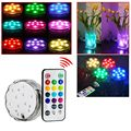 Multi Color Waterproof Light Submersible LED Light with Romote Control for Valentines Day Birthday Party