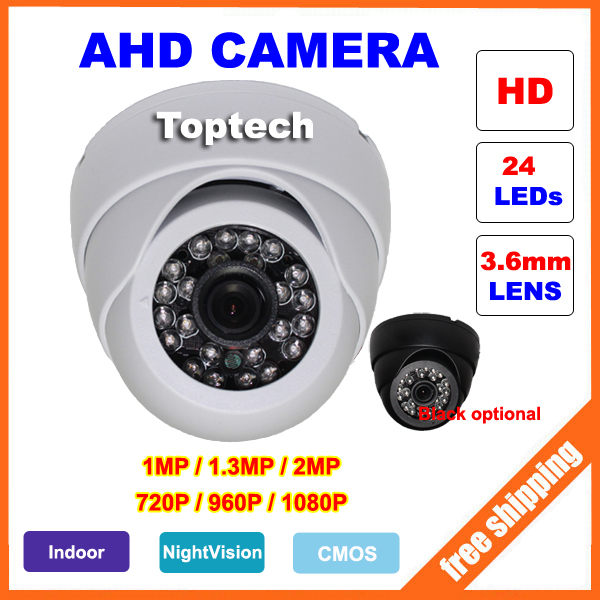 imágenes para Cámara CCTV AHD 1.3MP 2MP 1MP CMOS Analógico de Cámaras de Seguridad 720 P 960 P 1080 P HD de La Visión Nocturna de Interior Cámara de vigilancia