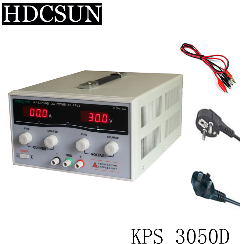 KPS3050D High precision High Power Adjustable LED Dual Display Switching DC power supply 220V EU 30V/50A 220v kps3040d high power switching power supply 30v 40a adjustable power supply 1200w adjustable led dual display