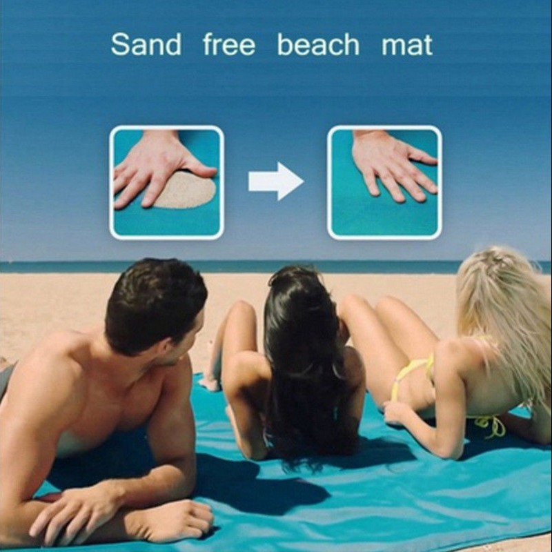 200x200cm Sand Free Beach Mat Camping Outdoor Picnic Mattress Waterproof Blanket Magic Camping Picnic Mattress