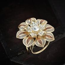 trendy fashion scarf clasp buckle rhinestone flower scarf jewelry clips brooch for women girl gift accessory