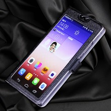 5 Colors With View Window Case For Lenovo S820 Luxury Transparent Flip Cover S 820 Mobile Phone Bag