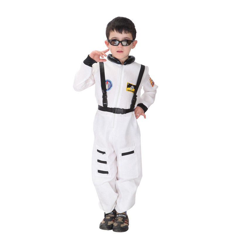 Purim costumes Kids Astronaut Costume Boys Spaceman Jumpsuit  Fancy Dress Outfit for Halloween party event