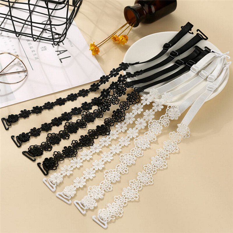 Women Intimate Bra Accessories Decorative Shoulder Cute Flower Lace Bra Straps Replacement Underwear Belt