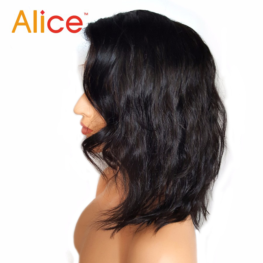 Alice Bleached Knots Full Lace Wigs Human Hair With Baby Hair Wavy Short Full Lace Human Hair Wigs For Black Women All Hand Tied (4)