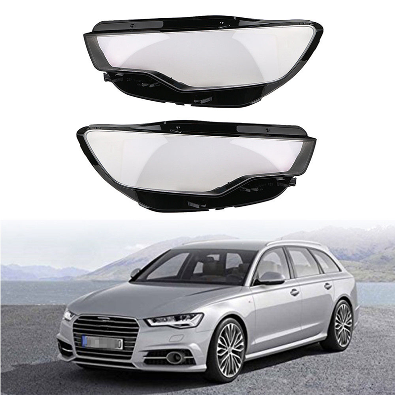 Car Left and Right Front Kit Cover Lens Headlights Fit FOR Audi C7 A6L 2013-2015 1 Pair new 1 pair car left