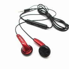 Vido Red Earbuds In Ear Earphone Earbud Dynamic Flat Head Plug Earbud HIFI Bass Earbud MX500 Black With Mic(China)