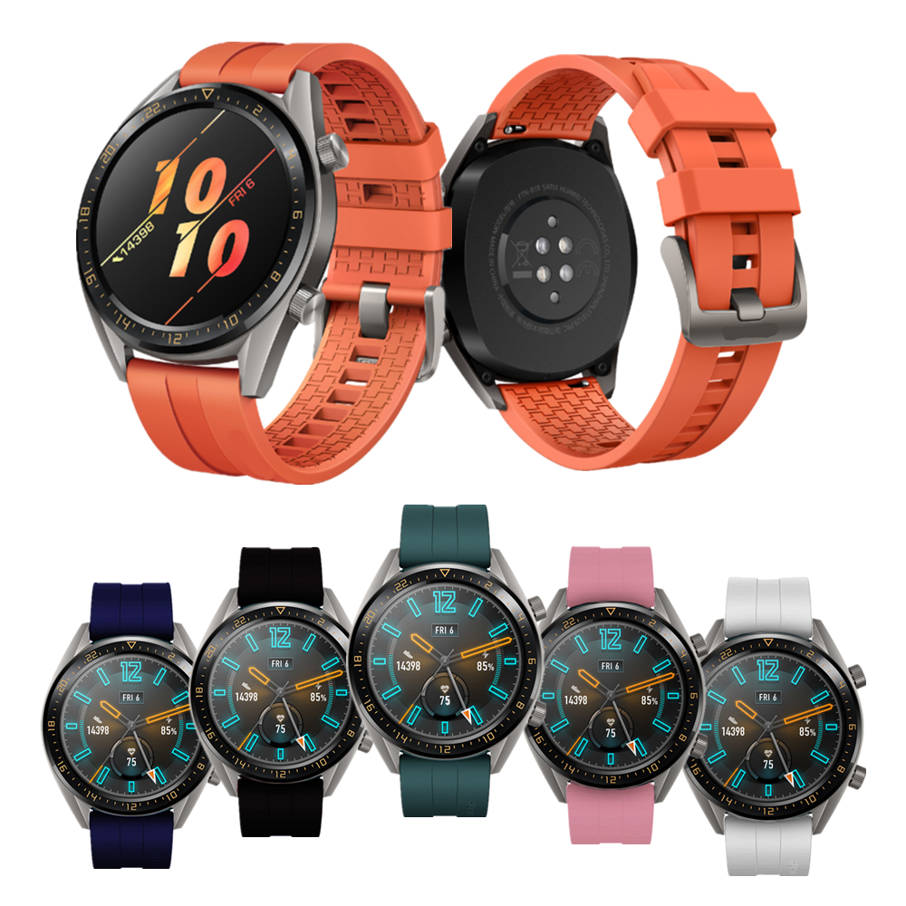 For Huawei Watch GT2 Active/Elegant Strap/Honor Watch Magic Band Silicone Sports Bracelet For Huawei GT/GT2 /Honor Magic