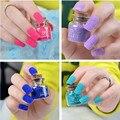 Fashion Hot Velvet Fiber Nail Polish Manicure Decoration Shimmer Nail Polish Nail Art Tools Makeup Cosmetics 16 Colors