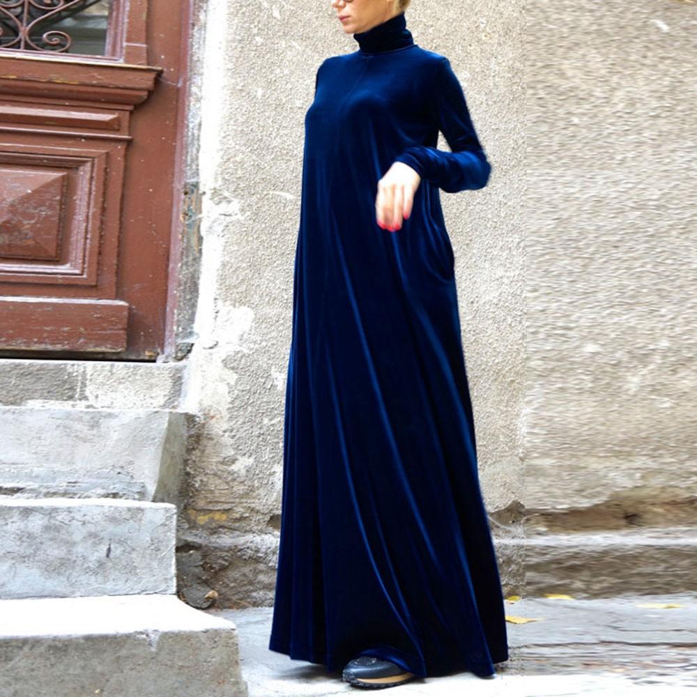 2016-New-Sexy-Women-Celeb-Turtle-Neck-Velvet-Dresses-Oversize-Winter-Party-Cocktail-Maxi-Long-Dress (1)