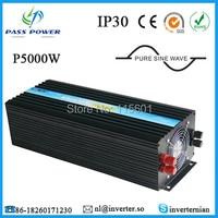 Чистая синусоида DC 12 В 24 В 48 В к AC 110 В 220 В 240 В 5000 Вт /5KW высокое Мощность инвертор для кондиционер/холодильник/насос