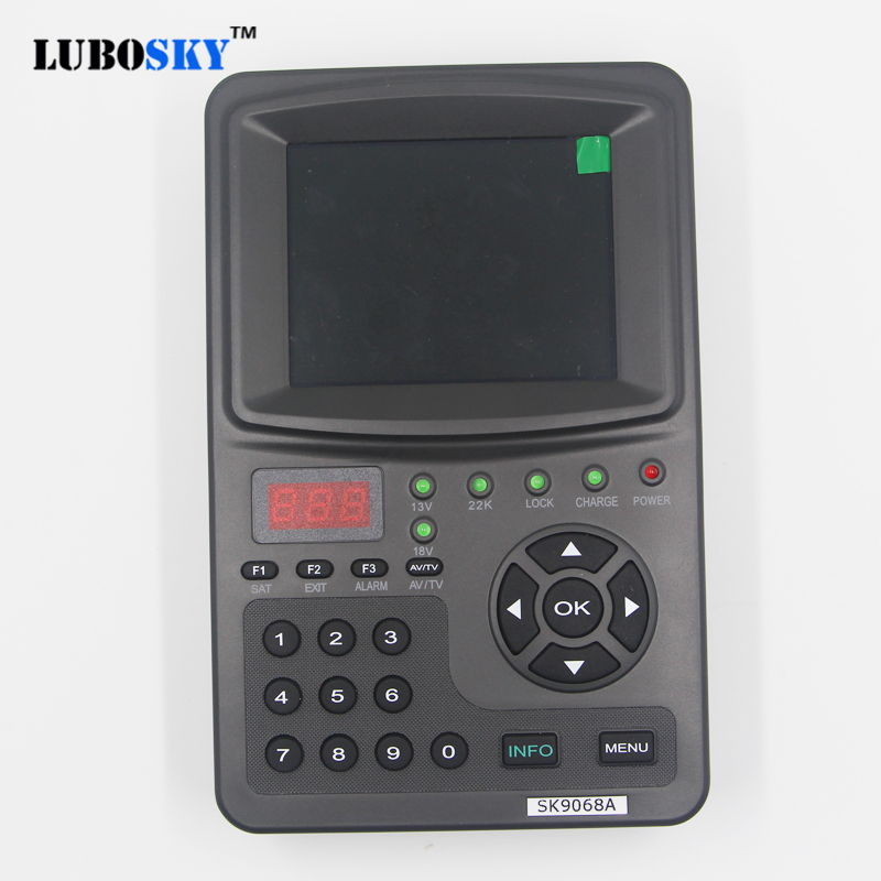 LUBOSKY 3.5 inch satellite finder dvb-s sk9068a sat Satellite satl FTA Digital Sat Finder цены онлайн