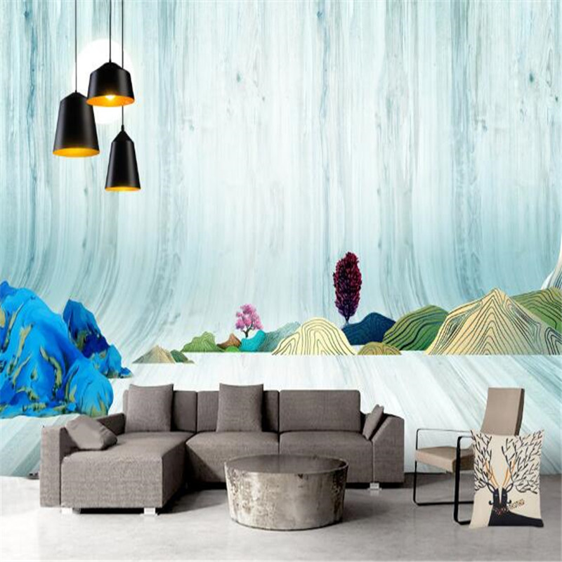 Creative Hotel Mural Non-Woven Wallpapers 3D Wall Paper for Walls Blue Stereoscopic Space Mural Living Room Decorative Wallpaper high quality wall paper mural flower floral wallpaper for walls wallpapers non woven 3d stereoscopic wallpapers papel de parede