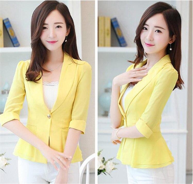Blazers Elegant Female Summer Thin Suits Plus Size 3xl 4xl 4xl Women Office Blazer Blue Orange Slim Fit Breathable Blazer For Work Ma088 Latest Fashion