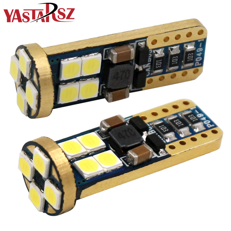 все цены на 2x T10 W5W 12 SMD 3030 LED Car Interior Reading Light Parking Lamp 168 WY5W 12SMD LED CANBUS NO ERROR Auto Wedge Tail Side Bulb онлайн