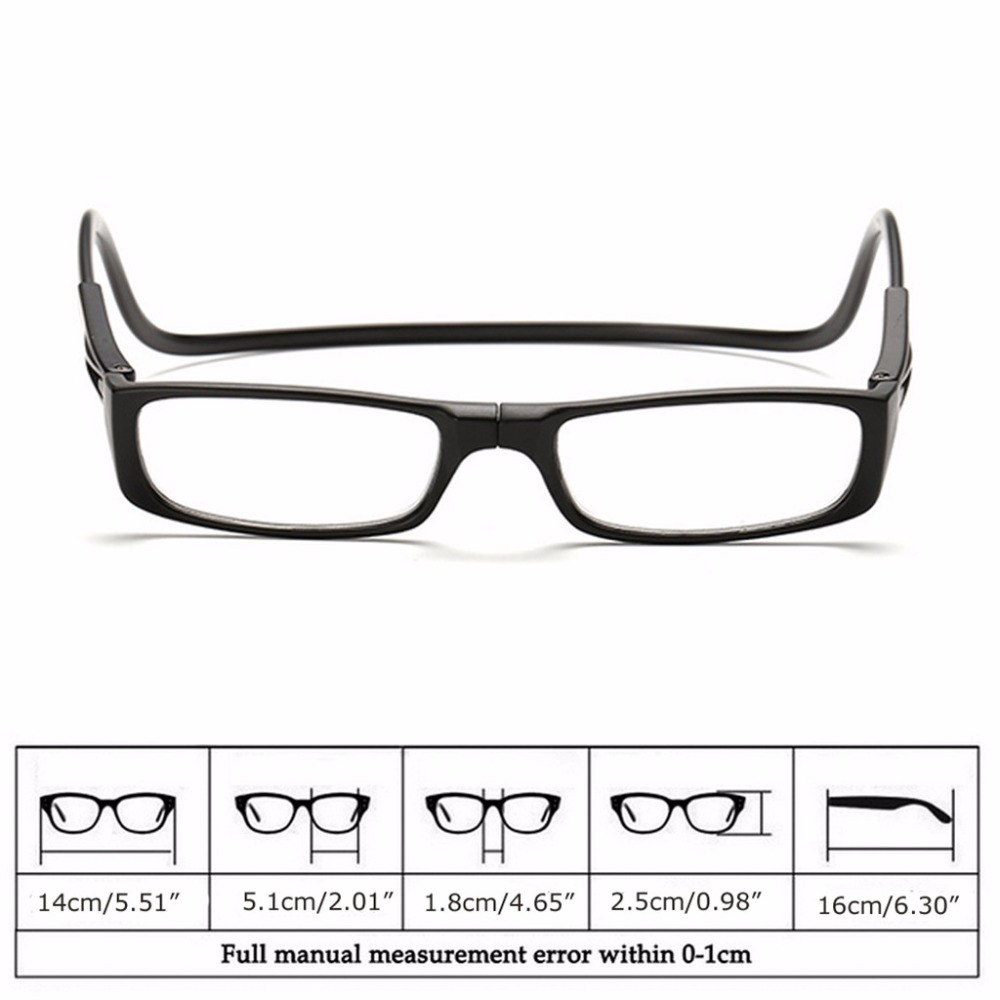 33e5f96bea Upgraded Unisex Magnet Reading Glasses Men Women Colorful Adjustable  Hanging Neck Magnetic Front presbyopic ...