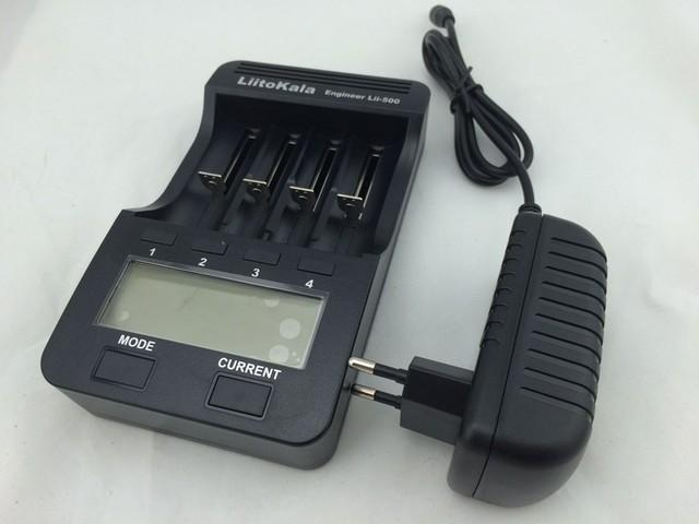 LiitoKala Lii-500 Multifunción Cargador 18650,18650 Cargador 26650 Cargador, prueba de Capacidad, USB 5 V de salida, Gran pantalla LCD.