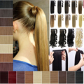 Lady's Synthetic Long Curly Hair Wrap Around Clip Ponytails Hair Extension Hairpieces 14 colors Available 120g 1 pcs