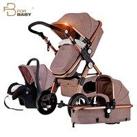 Детские коляски 3 в 1 Роскошная коляска для новорожденных высокого Landscope складной Детские коляски для малыша от 0 3 лет