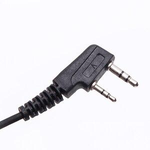 Image 5 - walkie talkie headset throat mic Acoustic Tube Earpiece Headset PTT Throat MIC Microphone Earphone For Baofeng UV5R UV82 VX 3R