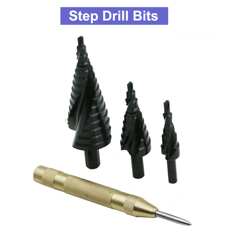 4-12 4-20 4-32 HSS Cobalt Step Drills Nitrogen High Speed Steel Spiral for Metal Cone Drill Bit Set Triangle Shank Hole Cutter 2pcs to263 5 to252 5 to dip adapter board for diy