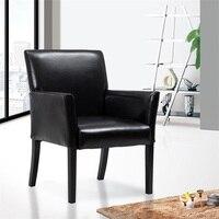 Modern PU Leather Executive Arm Chair Sofa 250 Pound Load Capacity Single Modern Sofa Sturdy Wood Legs Ergonomic Back HW56134