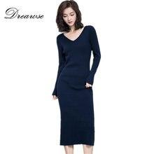 Solid color knit dresses