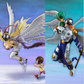 Digital Monster Digimon Цифра Angemon Angewomon Digimon ПВХ Фигурку Colletion Модель Игрушки