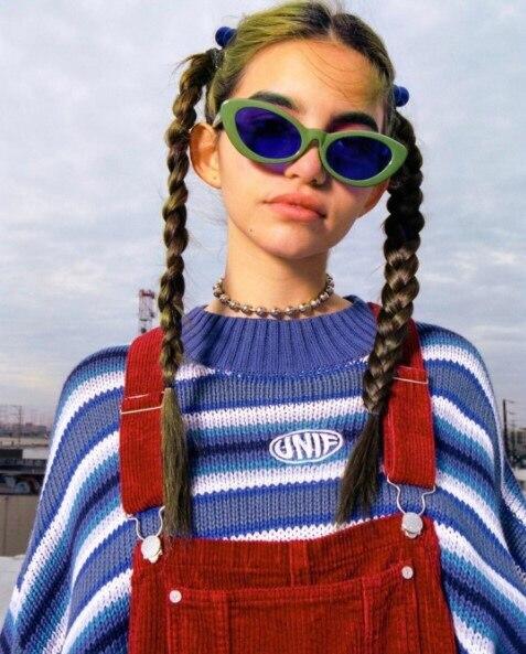 Pulover Unif Oversize Casual Feminino Iris Arco Bloque Forever Jersey Jerseys Corto Crayola Azul Color Blue Tejido Suelto qSxnIxzZw