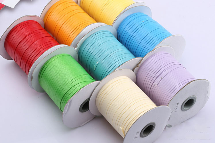 ▻4mm Flat Korea Polyester Waxed Cord Wax Rope Thread For Jewelry ...