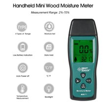 Mini digital Wood Moisture Meter LCD Lumber Damp Meter analyzer timber Moisture Detector Tester 2 Pin Probe Range 2%~70% стоимость