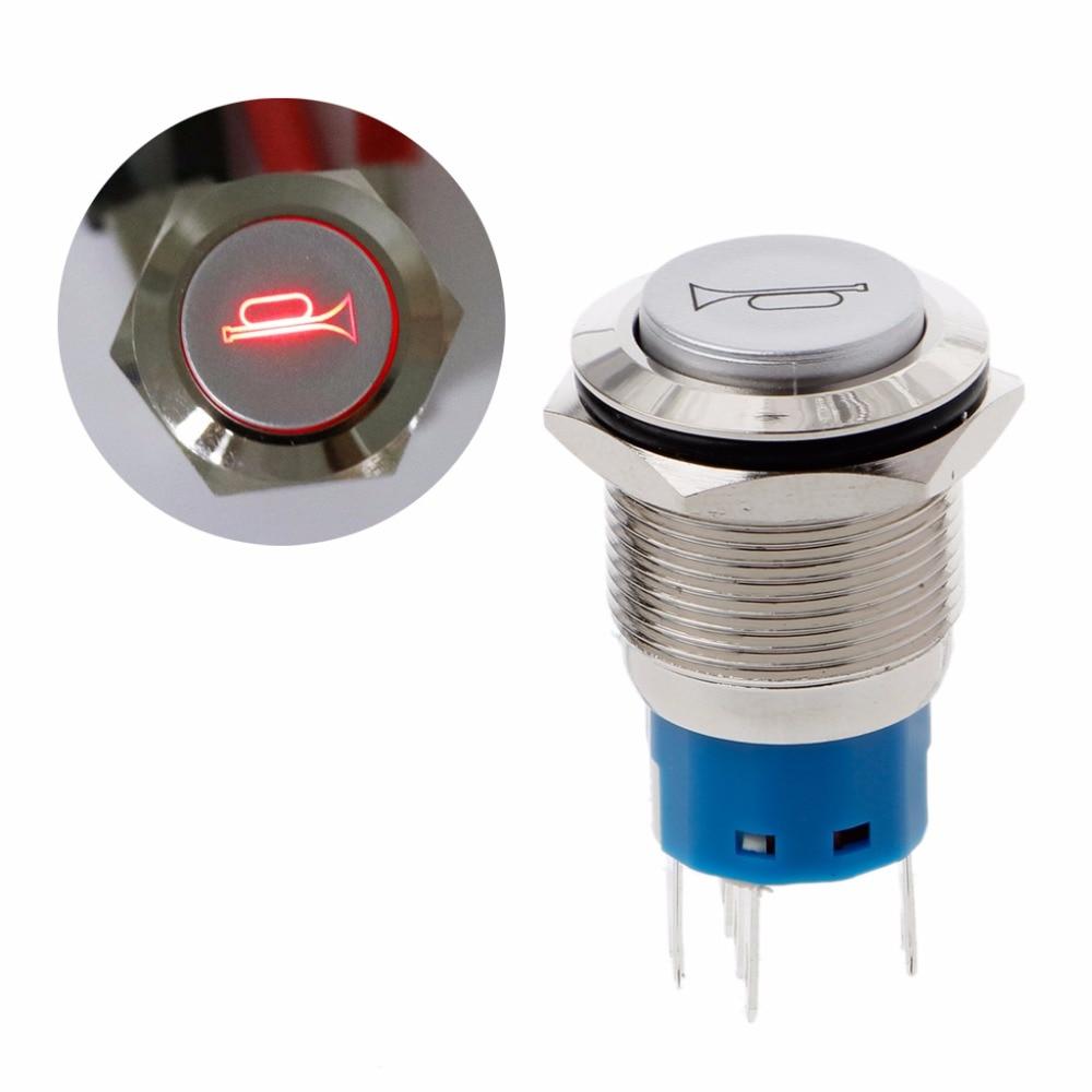 New 12mm Green Momentary Push Button Horn Switch Horn Button fu