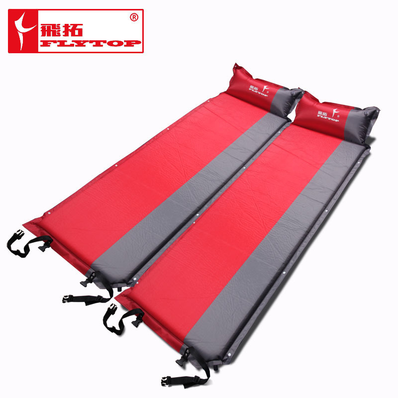 2015 Hot sale (170+25)*65*5cm single person automatic inflatable mattress outdoor camping fishing beach mat <font><b>on</b></font> sale/ wholesale
