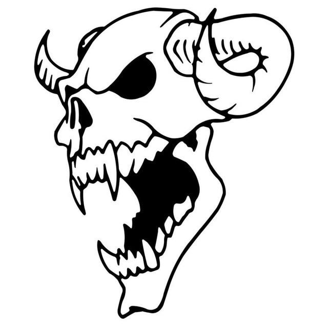 demon death skull decal sticker auto electrical wiring diagram Volvo Wiring Diagrams aliexpress buy 10 6 12 7cm demon skull creative