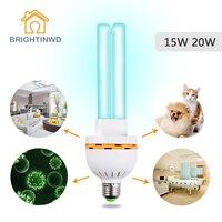 УФ-стерилизатор дома озонатор ультрафиолетовая лампа УФ лампы дезинфекции бактерицидные E27 15 W 20 W светильники лампы для дома 220 V