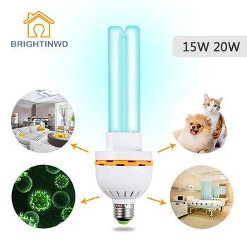 Esterilizador UV hogar lámpara ultravioleta bombilla UV desinfección germicida E27 15W 20W lámpara de luces para el hogar 220V