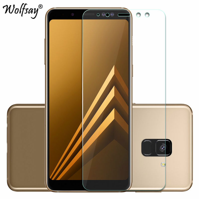 Image 1 - 2pcs For Tempered Glass Samsung Galaxy A8 2018 Screen Protector Anti Explosion Thin Film For Samsung Galaxy A8 2018 Glass A530-in Phone Screen Protectors from Cellphones & Telecommunications