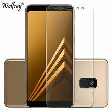 2pcs Đối Tempered Glass Samsung Galaxy A8 2018 Screen Protector Chống nổ Thin Film Đối với Samsung Galaxy A8 2018 Glass A530