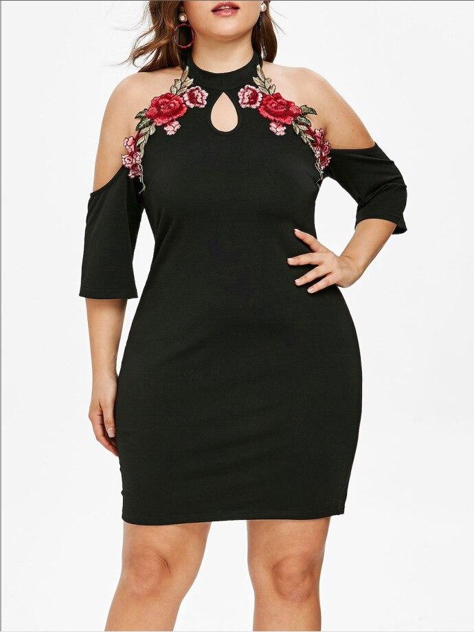 Dámské letní móda Off rameno Výšivka Otvor Vintage Šifón Bavlna Háčkování Pouzdro Elegantní Plus Velikost Mini Šaty Vestidos