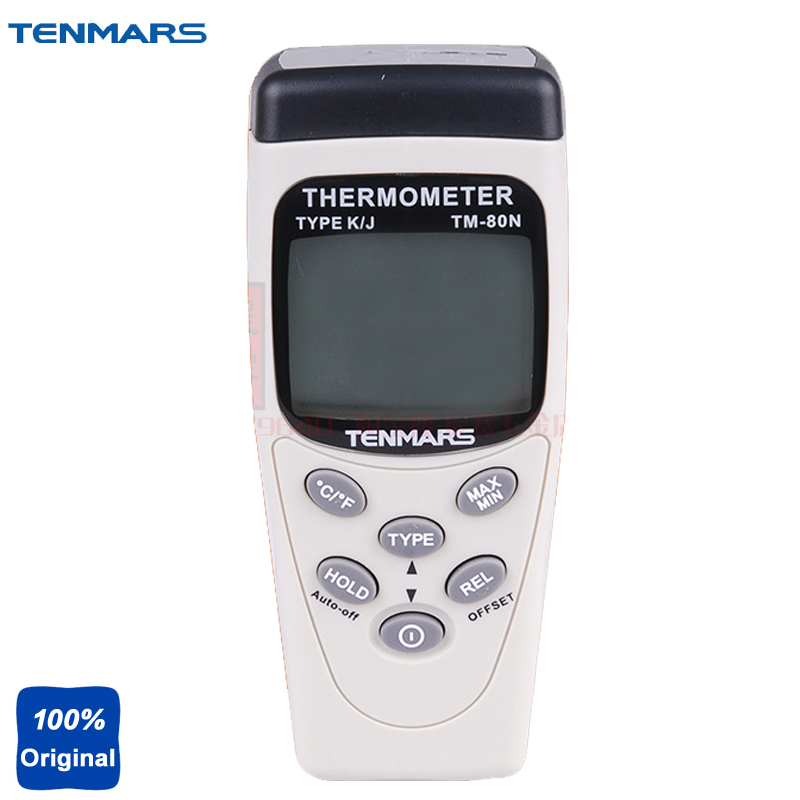 K/J Type Industrial Thermometer with Dual LCD 5-digit Display TM80N hf 1 8 lcd 3 digit thermocouple