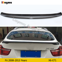 M Performance style Carbon Fiber rear trunk spoiler For BMW X6 xDrive 35i 50i 2008 2013 years E71 MP styling Car spoiler Wing