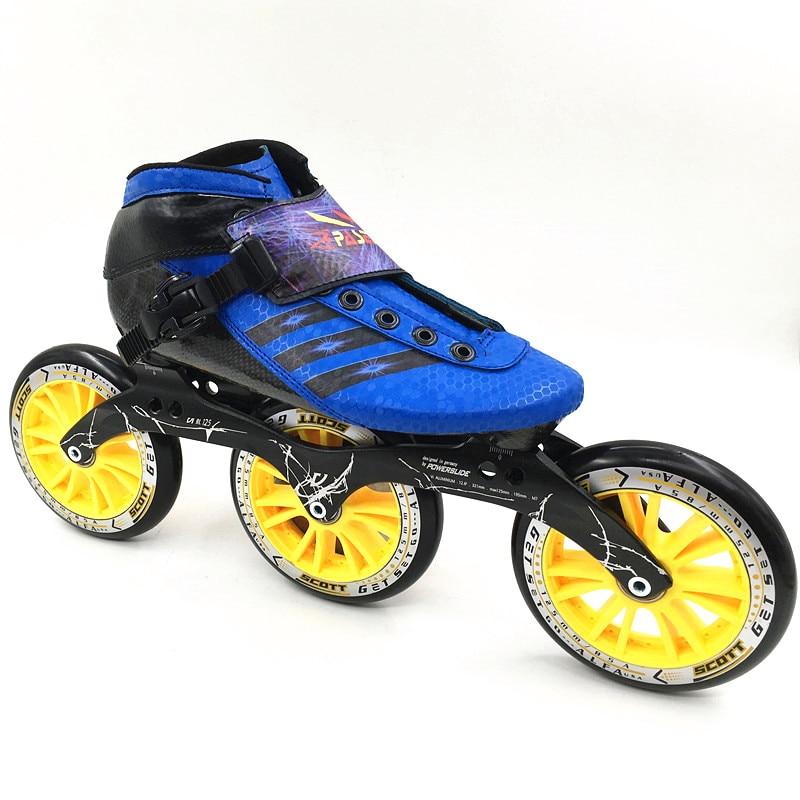 Prix pour Inline chaussures de patinage de vitesse Professionnel enfant inline patins à roulettes pasendi Patins Carbone Adultes Inline 3 roues de Skate de Vitesse