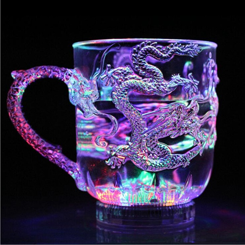 Unique Design LED Toy Light Color Change Pouring Water Activates Light up Dragon Luminous Cup for Holiday Party Decoration Lamp (4)