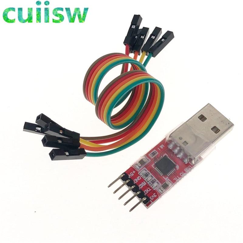 1pcs CP2102 Module USB vers TTL Serial UART STC Télécharger Câble PL2303 Super Brosse
