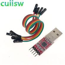 1 pces cp2102 módulo usb para ttl série uart stc cabo de download pl2303 super escova linha atualização