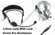 цена на MICWL ME3-EW Condenser Head Headworn Wearing Headset Microphone For Sennheiser G1 G2 G3 Wireless