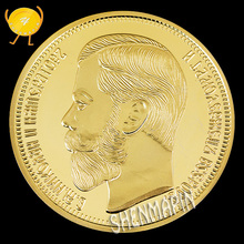 1901 Russia 10 Rubles Commemorative Coin Nicholas II Coins Collectibles 999 Gold of