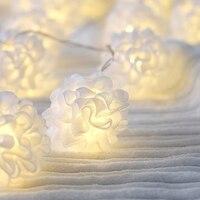 20Led Fata Pizzo Bianco Fiore Palla Battery Operated Luci della Stringa 3 m LED Decorazione Per La Ghirlanda Di Natale Capodanno gerlyanda