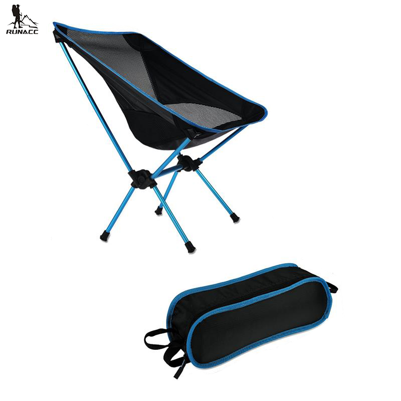 RUNACC Folding Camp Chair Outdoor Chair Portable Beach Chair for Outdoor Activities Heavy Duty with Carry Bag