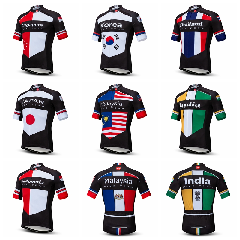 Cycling Jersey 2019 Short Sleeve Men Bike Jersey Top Singapore Thailand Japan Korea Malaysia Indonesia Bicycle Maillot Ciclismo